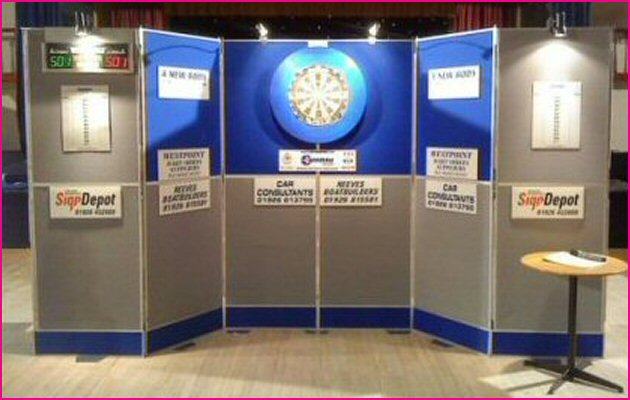 Trina Exhibition Dartboard Display Setup