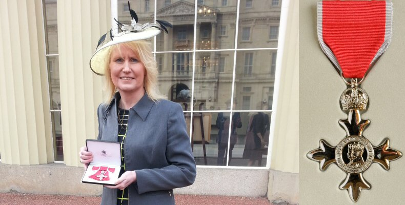Trina Gulliver MBE 24th January 2014 - Buckingham Palace